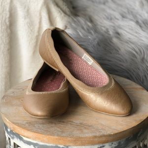 Lace detail gold casual flats | Skechers | size 8